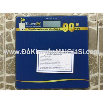 Cân điện tử Ensure mặt kính cường lực - Kt: 30 x 30 (cm)