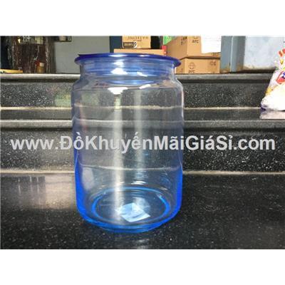Hũ thủy tinh cao cấp Luminarc Rondo 750 ml màu xanh