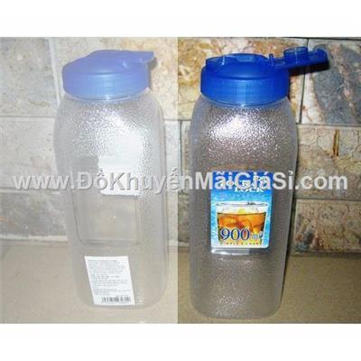 Bộ 2 bình nước nhựa Lock & Lock 900 ml HAP728 nắp bật