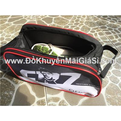 Túi đựng giày thể thao ClearMen 2 ngăn - Kt: (33 x 15 x 19) cm