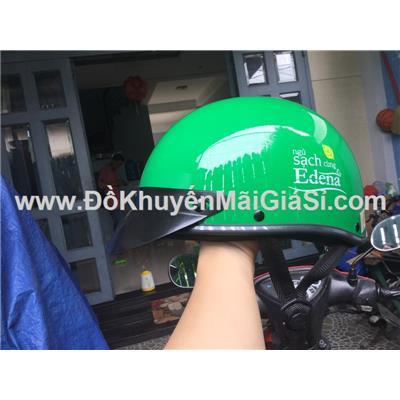 Nón bảo hiểm Edena nửa đầu không kính size M, màu xanh lá