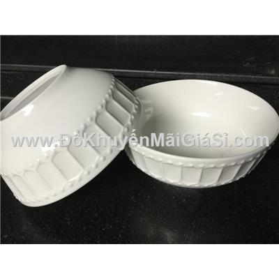 Bộ 2 tô sứ trắng kiểu Hoàng Gia 7 in - Kt tô: (17.5 x 8.5) cm
