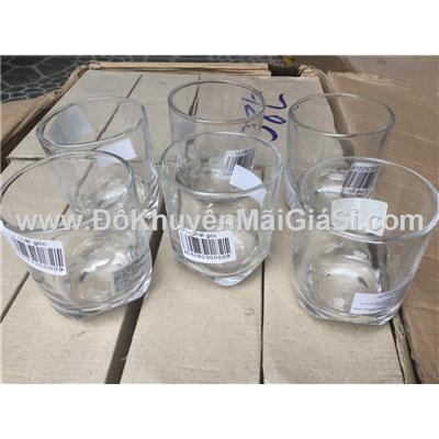 Hộp 6 ly thủy tinh lùn chặt góc uống trà đá P/S tặng - Dung tích ly: 200 ml
