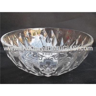 Tô thủy tinh kim cương Thái Lan cỡ đại - Kt: (20 x 8) cm