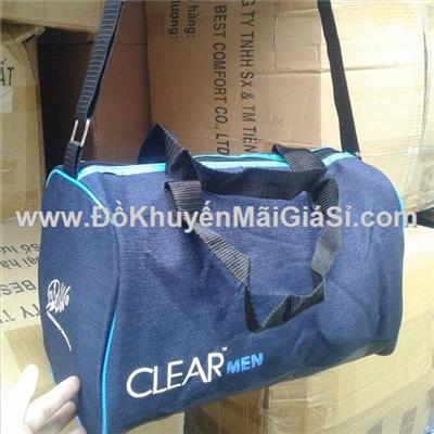 Túi xách thể thao Clear Men vải Jean size nhỏ - Kt: (40 x 20 x 15) cm