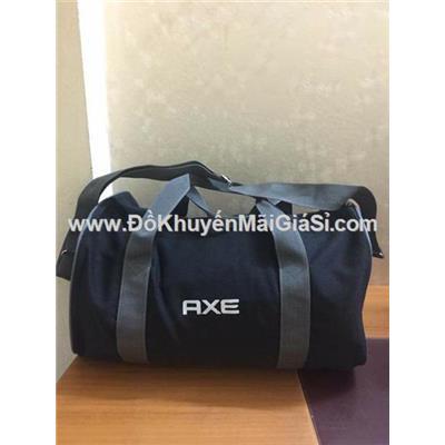 Túi xách du lịch AXE vải bố màu đen, quai xám - Kt: (40 x 25 x 20) cm