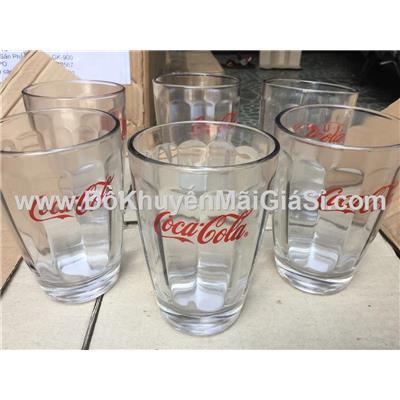 Hộp 6 ly thủy tinh sọc bầu cỡ lớn Coca tặng - Dung tích ly: 360 ml