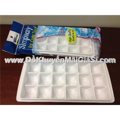 Vỉ làm đá kim cương Thái Lan 3889 nhựa dẻo 18 ô - Kt: (25 x 12 x 3.5) cm