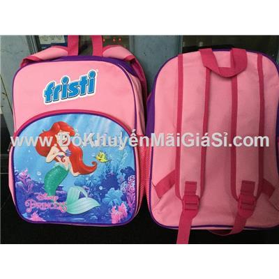 Balo Fristi 4 ngăn hình công chúa Ariel phim Nàng tiên cá cho bé gái - Kt: (27 x 13 x 37.5) cm