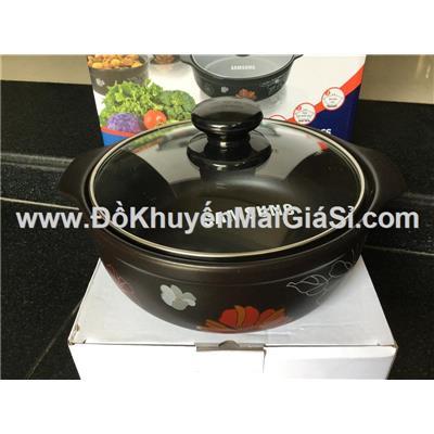 Nồi sứ cao cấp nắp kính Tucbeghi Dong Hwa GF-703 dung tích 1.4 lít dùng được trên tất cả các loại bếp