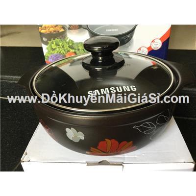 Nồi sứ cao cấp nắp kính Tucbeghi Dong Hwa GF-704 dung tích 1.85 lít dùng được trên tất cả các loại bếp