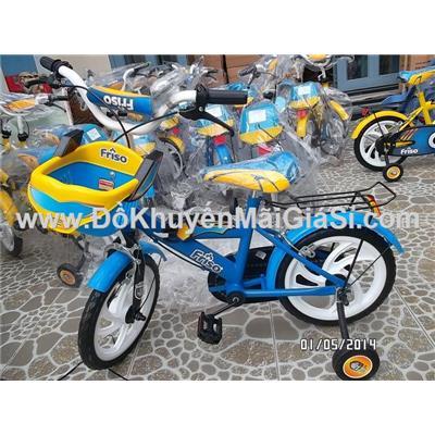 Xe đạp Friso cho bé 3 - 5 tuổi, có giỏ trước, yên sau, bánh xe 14 in - Phí giao hàng tính riêng 30 ngàn