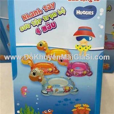 Phao bơi Huggies xỏ chân hình rùa cho bé - Kt: (71 x 52 x 32) cm