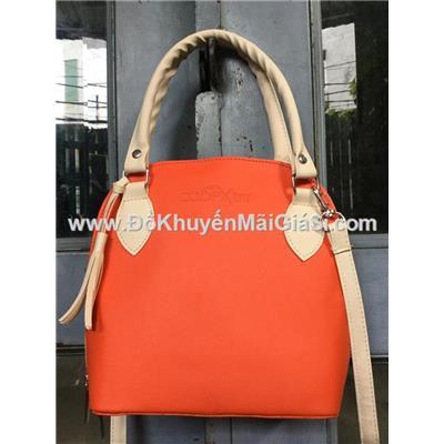 Túi xách thời trang Co.opXtra màu cam có dây đeo tháo rời - Kt: (23 x 20 x 8.5) cm
