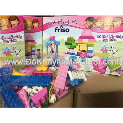 Bộ đồ chơi lắp ghép sân vườn Friso 60 miếng