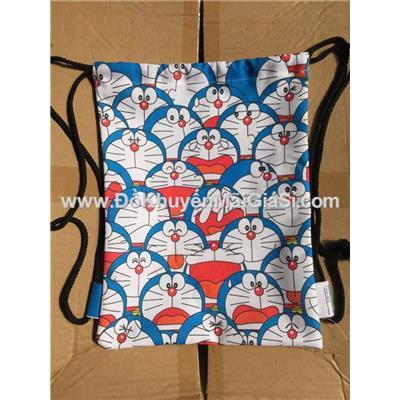 Balo rút hình Doraemon vải bố - Kt: (28.5 x 37) cm