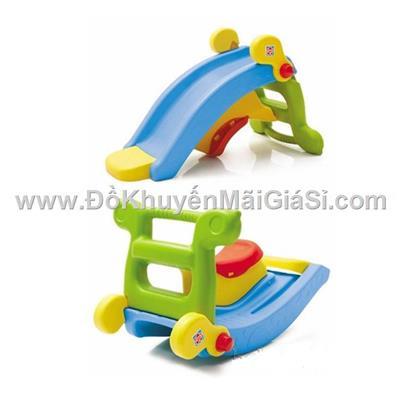Cầu trượt kiêm bập bênh Royalcare cho bé < 4 tuổi - Phí lắp ráp 40 ngàn (nếu có)