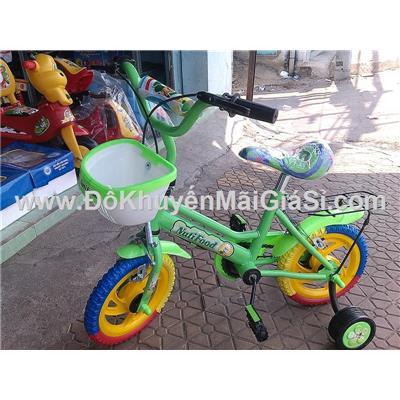 Xe đạp Nuti cho bé 2 - 4 tuổi, có giỏ trước, yên sau, bánh xe 12 in - Phí giao hàng tính riêng 30 ngàn