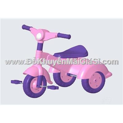 Màu hồng: Xe đạp nhựa 3 bánh Vinamilk cho bé 2 đến 3 tuổi - Kt: (68.7 x 49 x 48.9) cm - Phí giao hàng tính riêng 10 ngàn