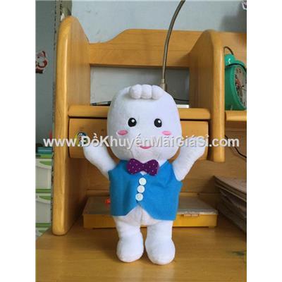 Em bé Bobby Chan nhồi bông mặc áo ghi lê siêu xinh - Cao 26 cm