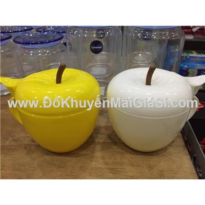 Bộ 2 hũ nhựa đa năng có quai hình trái táo Vinamilk tặng - 2 màu