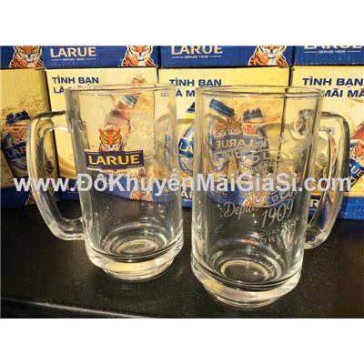 Ly nhỏ: Bộ 2 ly thủy tinh quai cao cấp Thái Lan UG315, bia Larue tặng - Dung tích ly: 380 ml