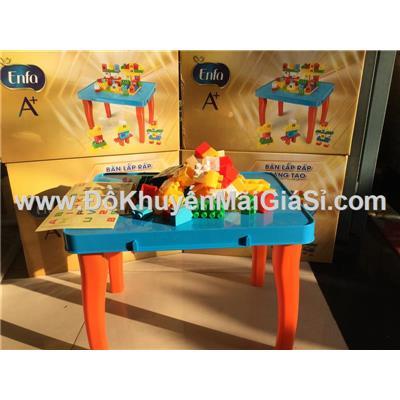 Bộ đồ chơi bàn lắp ráp sáng tạo Enfa 55 chi tiết bằng nhựa