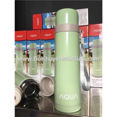 Bình giữ nhiệt lưỡng tính cao cấp Aqua QE-369 500 ml màu xanh pastel