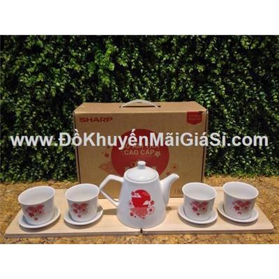 Bộ bình trà cao cấp sứ Dong Hwa Hàn Quốc - Sharp tặng