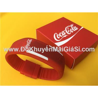 Đồng hồ điện tử đeo tay Coca Cola cho bé - Kt: (18.8 x 1.9) cm