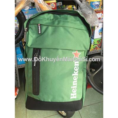 Balo đẳng cấp Heineken nhiều ngăn, có ngăn đựng laptop 15 in chống sốc - Kt: (48 x 38 x 15) cm