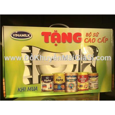 Bộ bàn ăn sứ cao cấp Minh Châu 9 món - Sữa Vinamilk tặng
