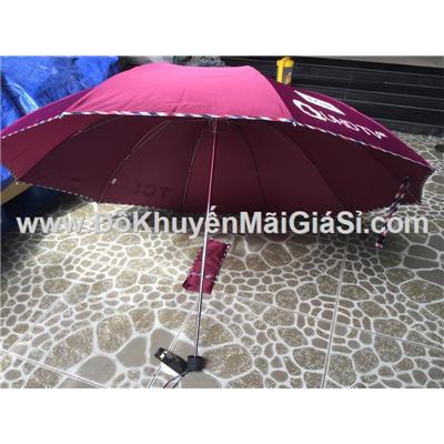 Dù cầm tay xếp gọn TCL màu tím hồng - Đường kính 110 cm