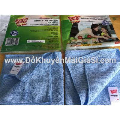 Bộ 2 khăn lau Microfiber tiện dụng Scotch Brite 3M - Kt: (30 x 30) cm