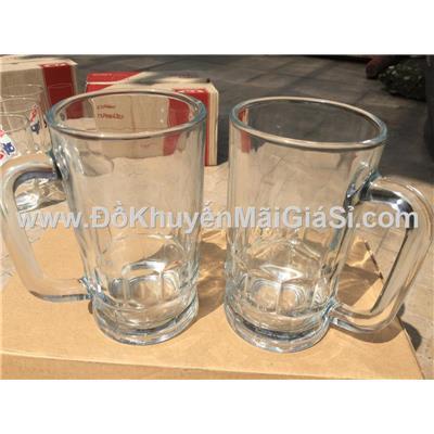 Bộ 2 ly thủy tinh có quai thân thẳng P&G tặng - Dung tích ly 345 ml