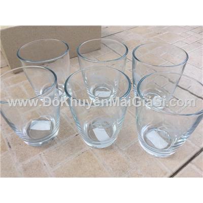Bầu trơn: Bộ 6 ly thủy tinh uống trà đá Dutch Lady - Dung tích ly: 260 ml