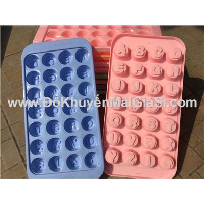 Bộ 10 vỉ đá nhựa hình bảng chữ cái tiếng Anh - Kt: (13 x 25 x 2) cm