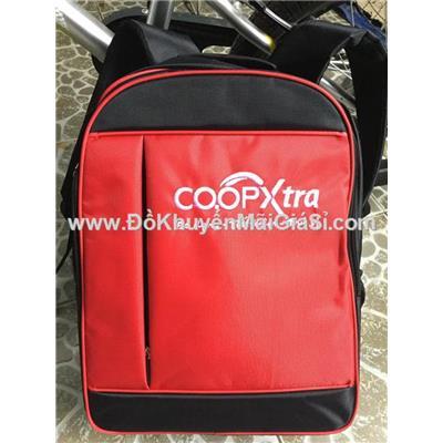 Đỏ đen: Balo CoopXtra nhiều ngăn cỡ lớn, có ngăn đựng laptop chống sốc - Kt: (45 x 35 x 16)