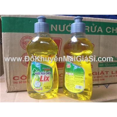 Set 2 chai nước rửa chén Lix 250g hương chanh