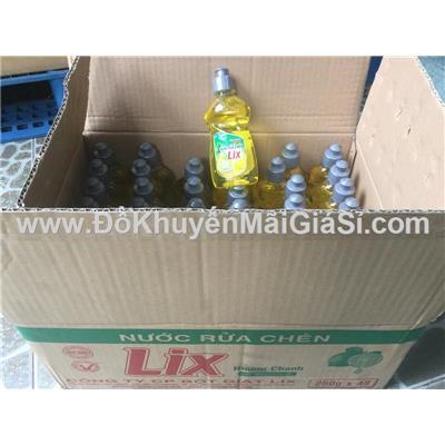 Thùng 48 chai nước rửa chén Lix 250g hương chanh