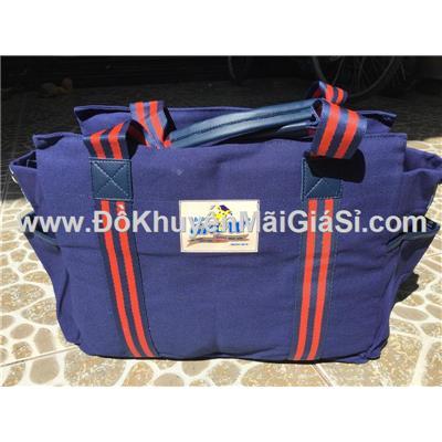 Túi xách vải bố cỡ lớn Abbott Grow màu xanh đen - Kt: (35 x 15 x 28) cm