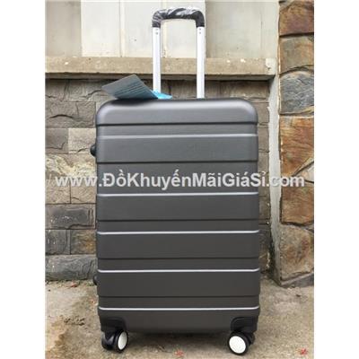 Vali kéo du lịch có khóa số size lớn 24 in màu đen, sữa Nuti tặng - Kt: (40 x 25 x 65) cm - Phí giao hàng tính riêng 20 ngàn