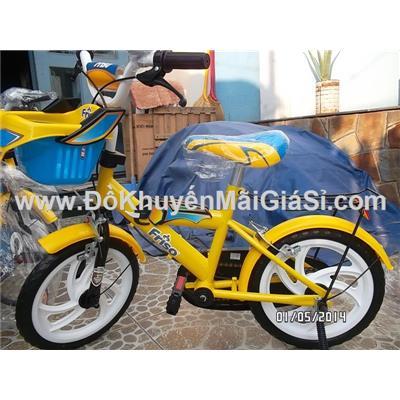 Vàng: Xe đạp Friso cho bé 3 - 5 tuổi, có giỏ trước, yên sau, bánh xe 14 in - Phí giao hàng tính riêng 30 ngàn
