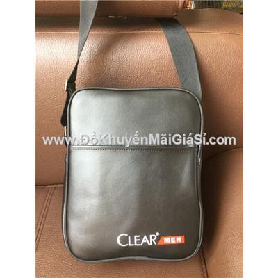 Túi Clear Men đeo chéo đựng Ipad màu đen - Kt: (27 x 21.5 x 8) cm