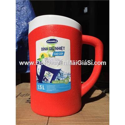 Bình giữ nhiệt cao cấp Vinamilk 1.5 lít nhựa Duy Tân - Kt: (22.2 x 13 x 20) cm