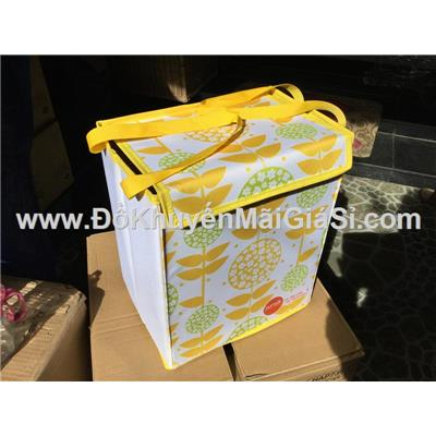 Thùng đựng đồ xếp gọn Sunsilk có nắp đậy + quai xách - Kt: (30.5 x 20 x 36) cm - Thùng màu vàng