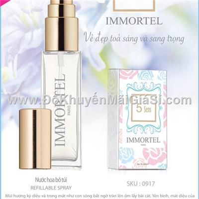 Nước hoa Pháp Immortel 5 Sens 8 ml dạng xịt dành cho nữ - Vẻ đẹp tỏa sáng và sang trọng