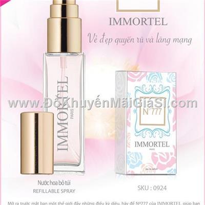 Nước hoa Pháp Immortel No.777 8 ml dạng xịt dành cho nữ - Vẻ đẹp quyến rũ và lãng mạn