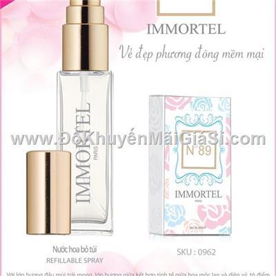 Nước hoa Pháp Immortel No.89 8 ml dạng xịt dành cho nữ - Vẻ đẹp phương Đông mềm mại