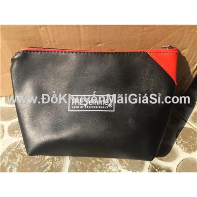 Bóp đựng đồ cá nhân Tresemme màu đỏ đen chống ướt - Kt: (21 x 16 x 6.5 x 13) cm